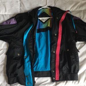 multicolored track jacket